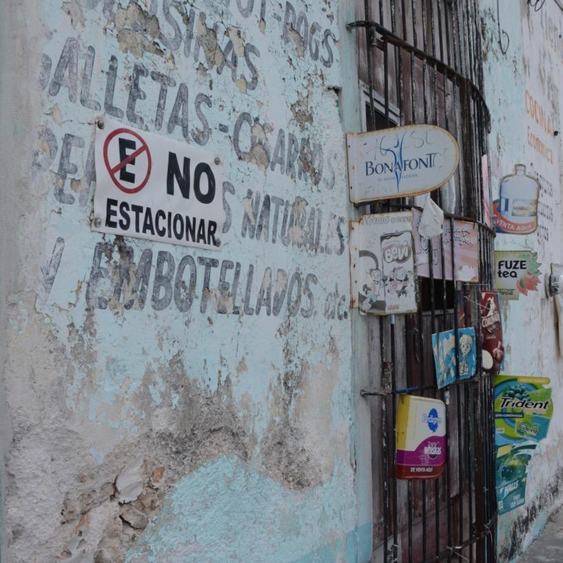 Mexico Merida travel with children kids corner shop