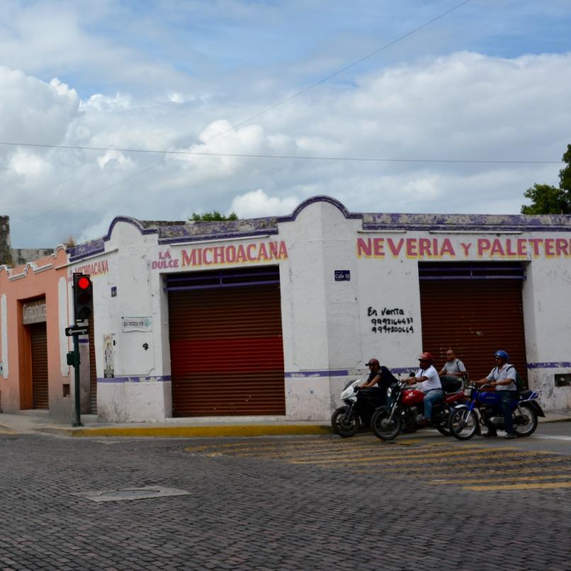 Mexico Merida travel with children kids motorbikes