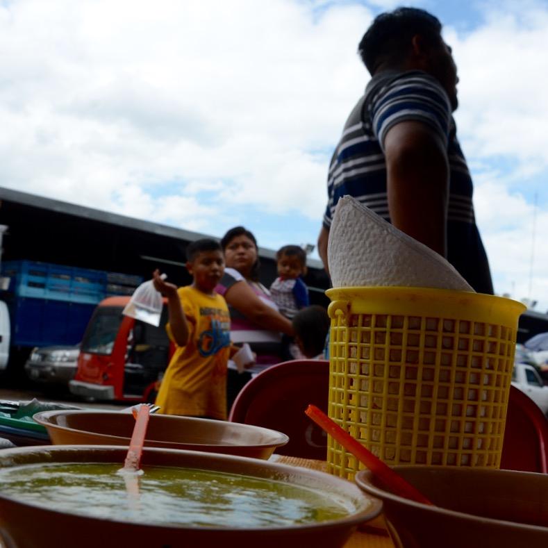 Mexico Merida travel with children kids food taqueria