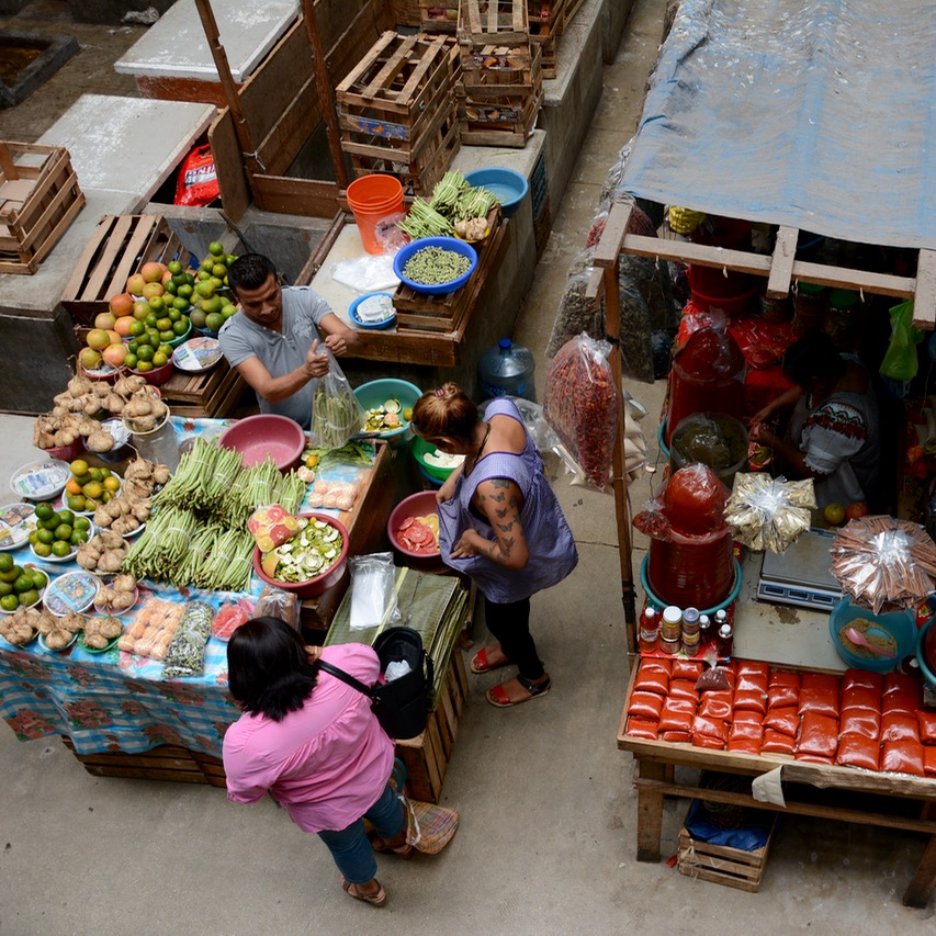 Mexico Merida travel with children kids mercado lucas de galves