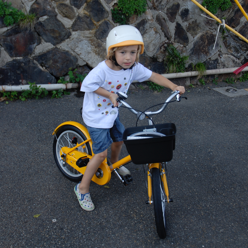 travel with children kids japan tokyo cycling muji bike