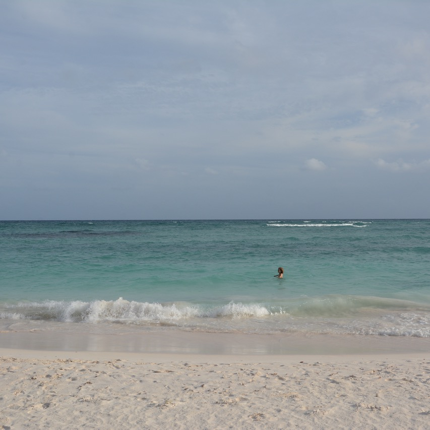 Travel with children kids mexico playa del carmen beach