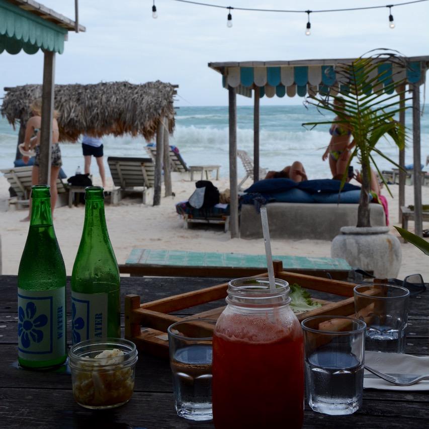 Travel with children mexico Tulum mayan ruins restaurant posada margarita
