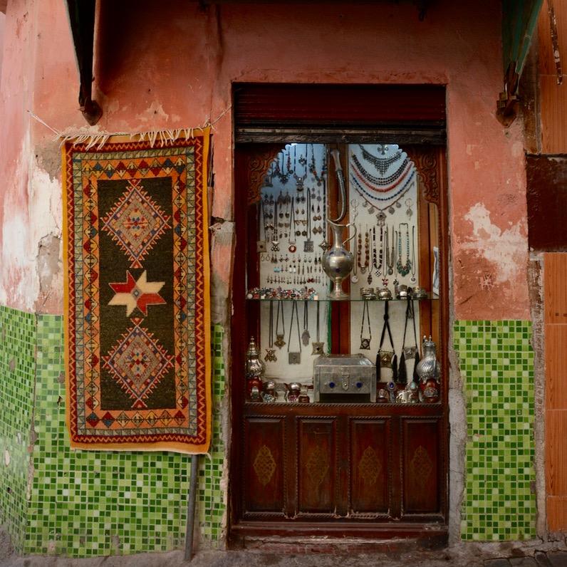 Travel with children kids Marrakesh morocco medina jewellery