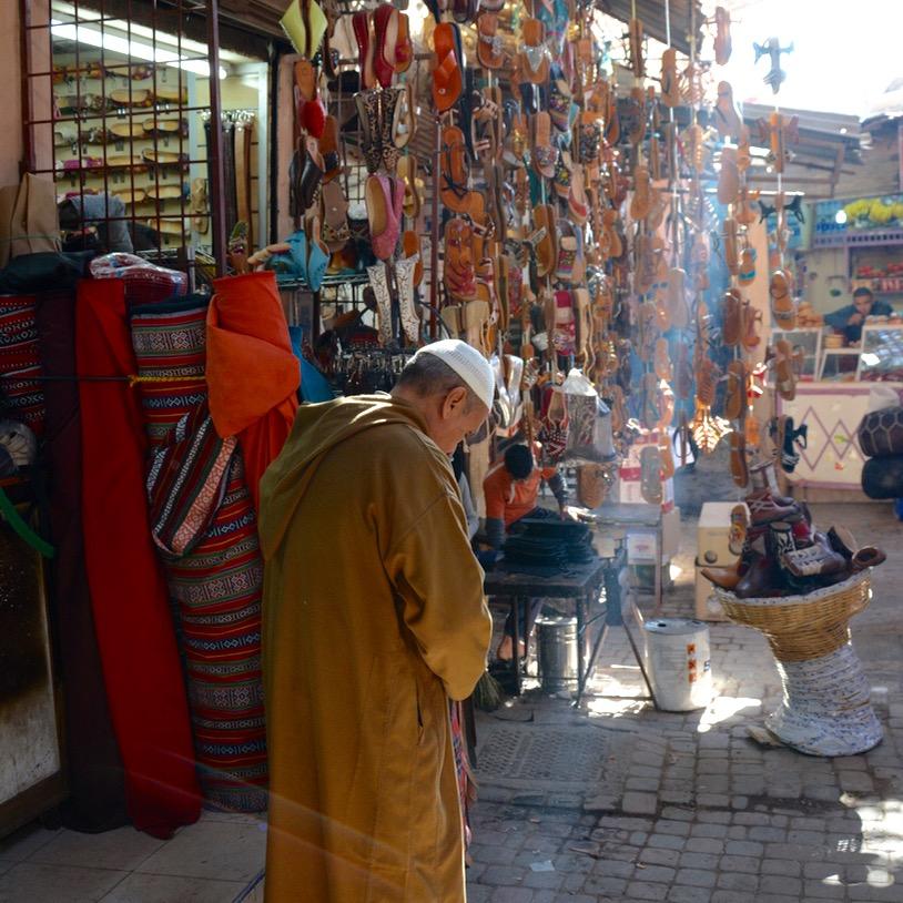 Travel with children kids Marrakesh morocco medina souk shop