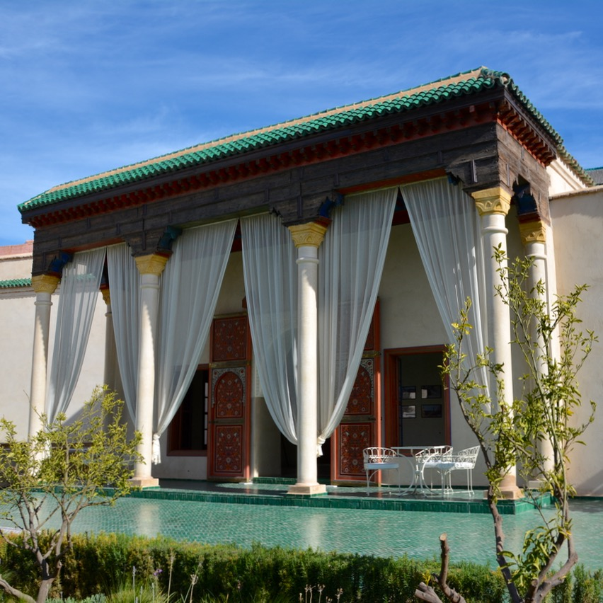 Travel with children kids Marrakesh morocco medina secret garden pavillion