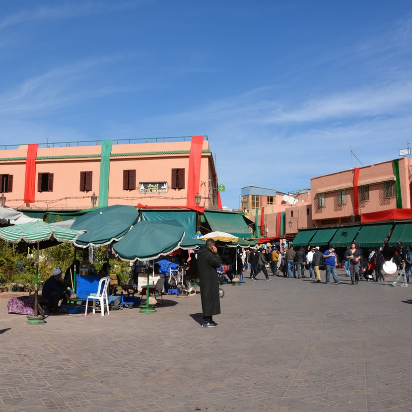 Travel with children kids Marrakesh morocco medina secret garden