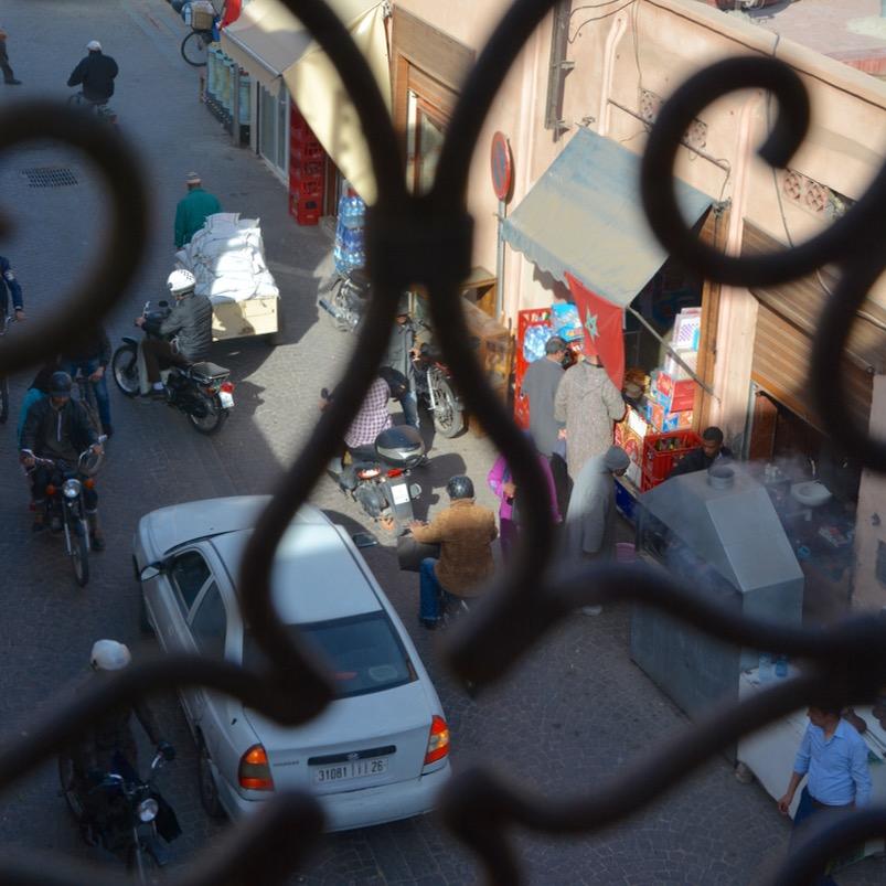 Travel with children kids Marrakesh morocco medina street view