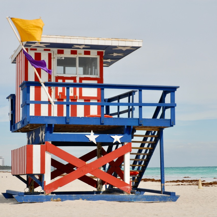 travel with kids children miami south beach life guard hut