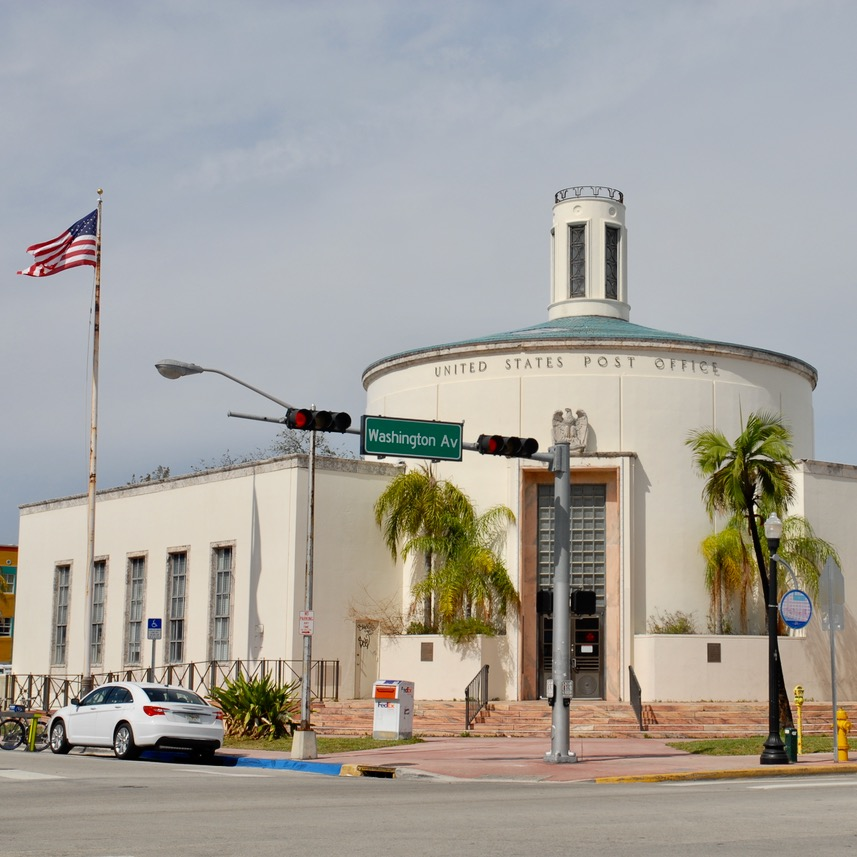 travel with kids children miami south beach art deco architecture post office