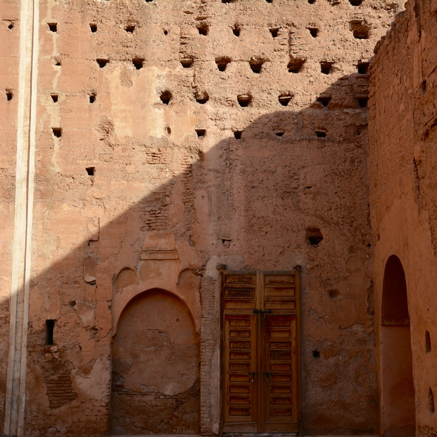 Travel with children kids Marrakesh morocco medina bad palace doors