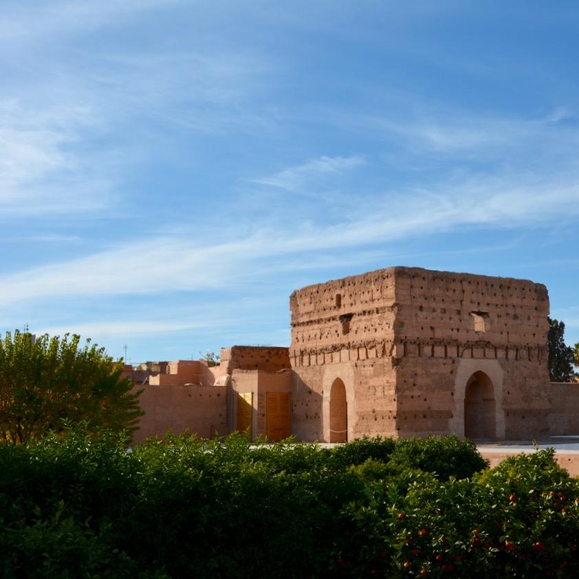 Travel with children kids Marrakesh morocco medina badia palace pavillion