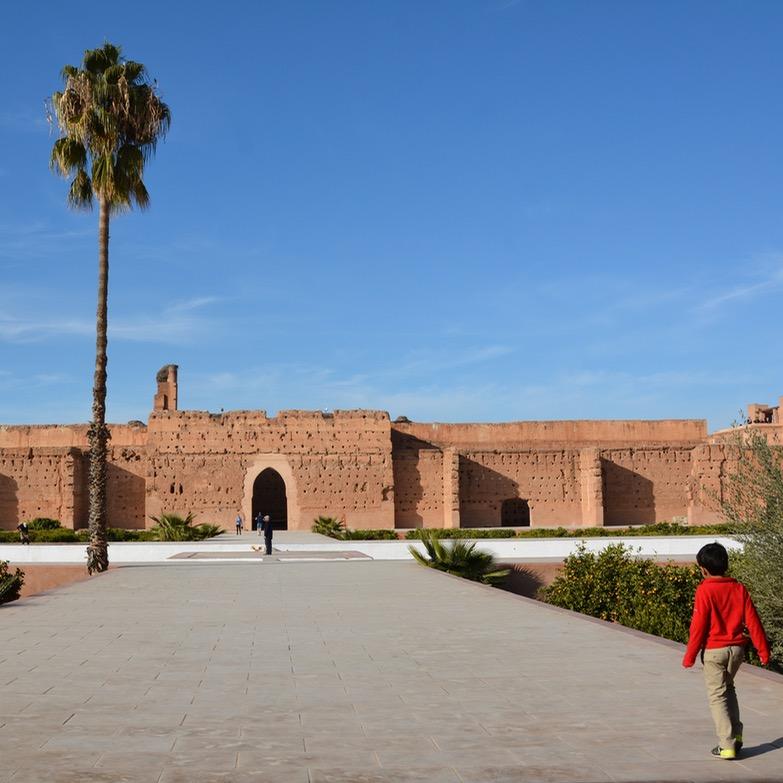 Travel with children kids Marrakesh morocco medina badia palace