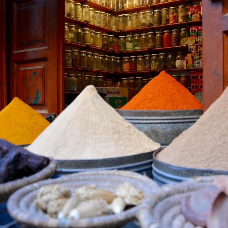 Travel with children kids Marrakesh morocco medina spice souk