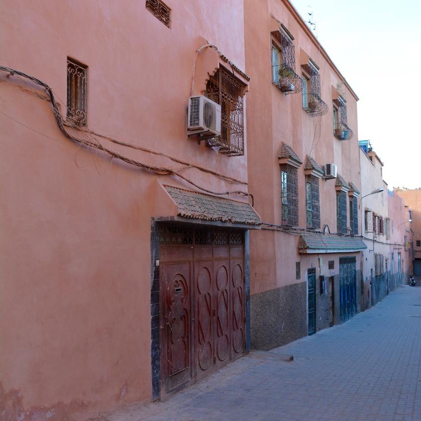 Travel with children kids Marrakesh morocco medina spice market street