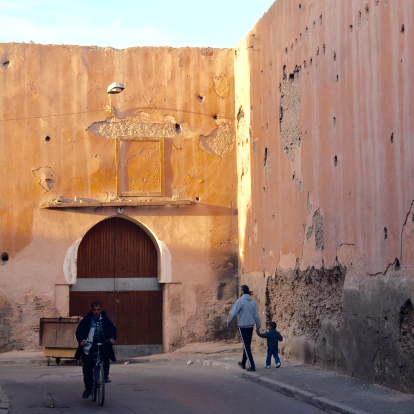 Travel with children kids Marrakesh morocco medina spice market