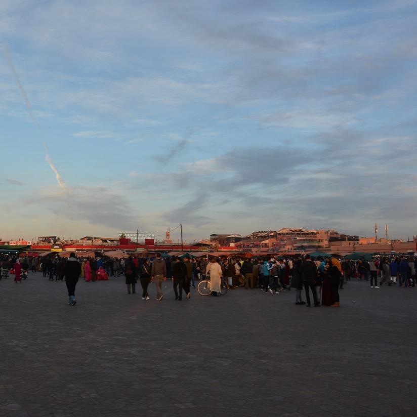 Travel with children kids Marrakesh morocco medina jemmy el fna sunset