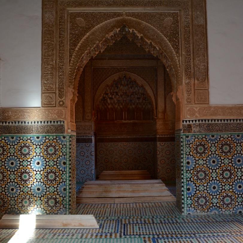 travel with children kids morocco marrakech saadian tombs