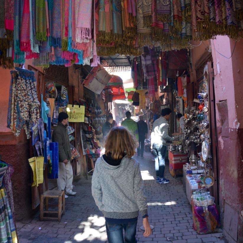 Travel with children kids marrakech morocco souk