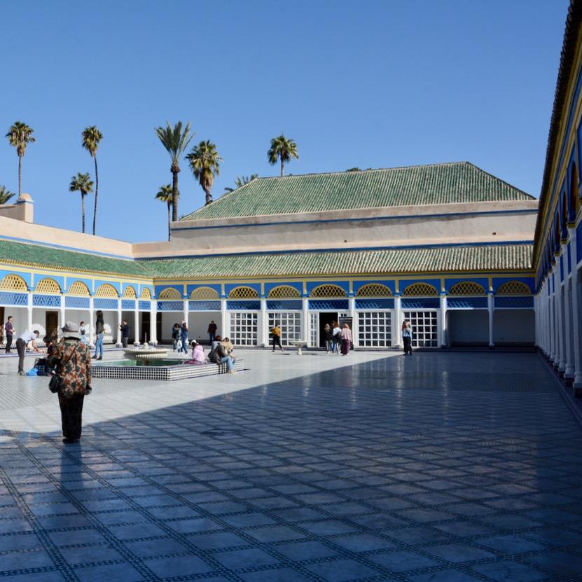 travel with children kids marrakech morocco bahiaa palace courtyard