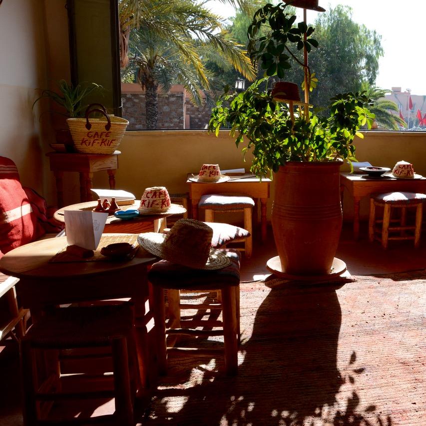 travel with children kids marrakech morocco anima garden andre heller cafe kif kif