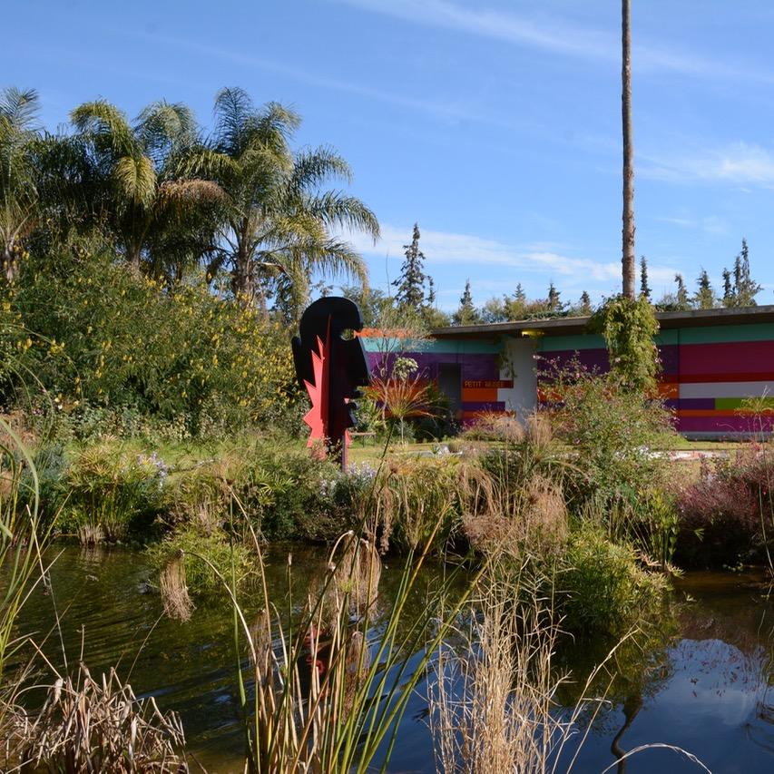 travel with children kids marrakech morocco anima garden andre heller head sculpture