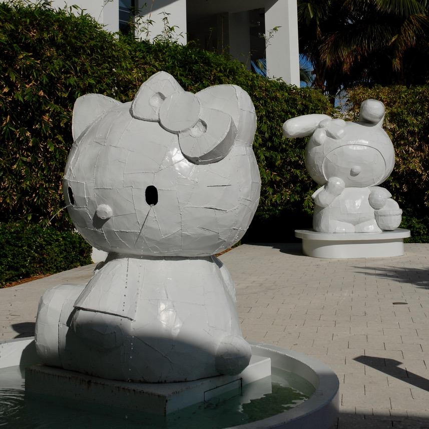 travel with kids children miami usa south beach w hotel hello kitty fountain