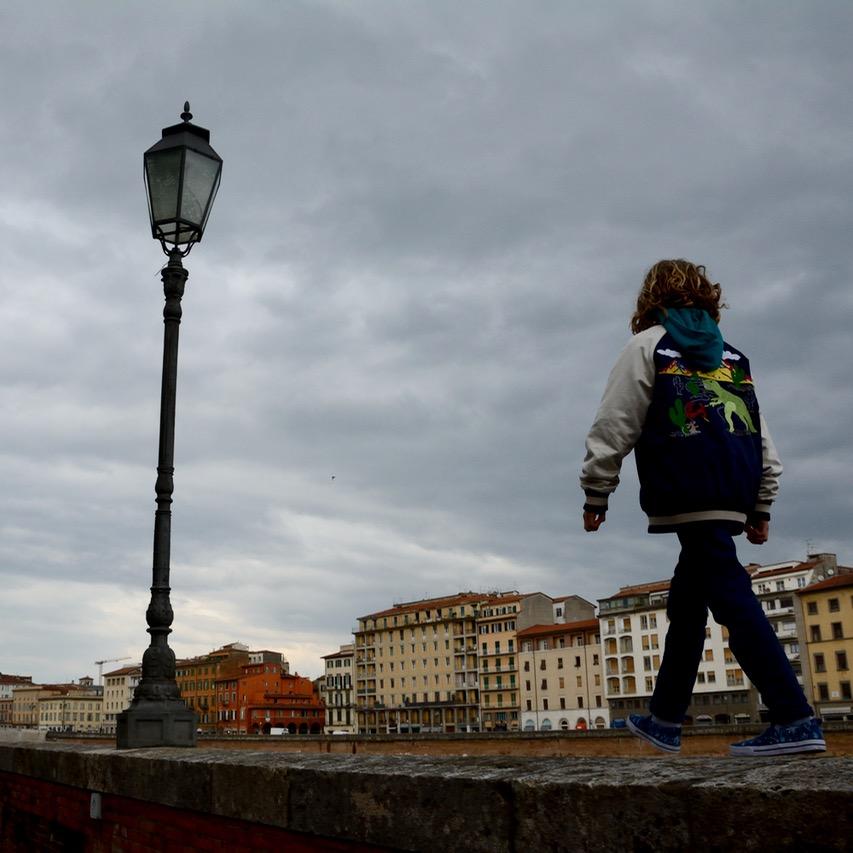 travel with kids children pisa italy river walking tour