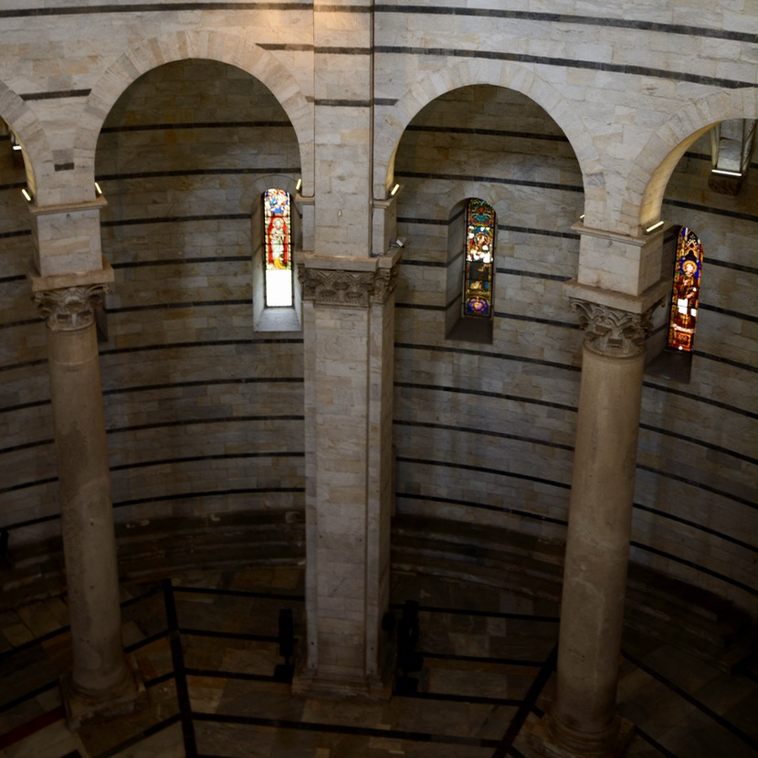 travel with kids children pisa italy miracle square baptistry dome columns