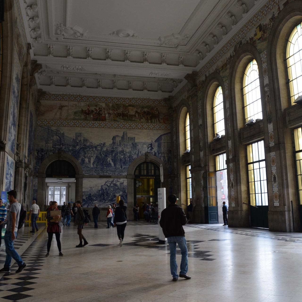 travel with kids children porto portugal train station