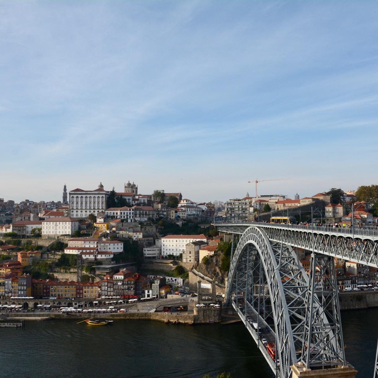 travel with kids children porto portugal post dom luis I