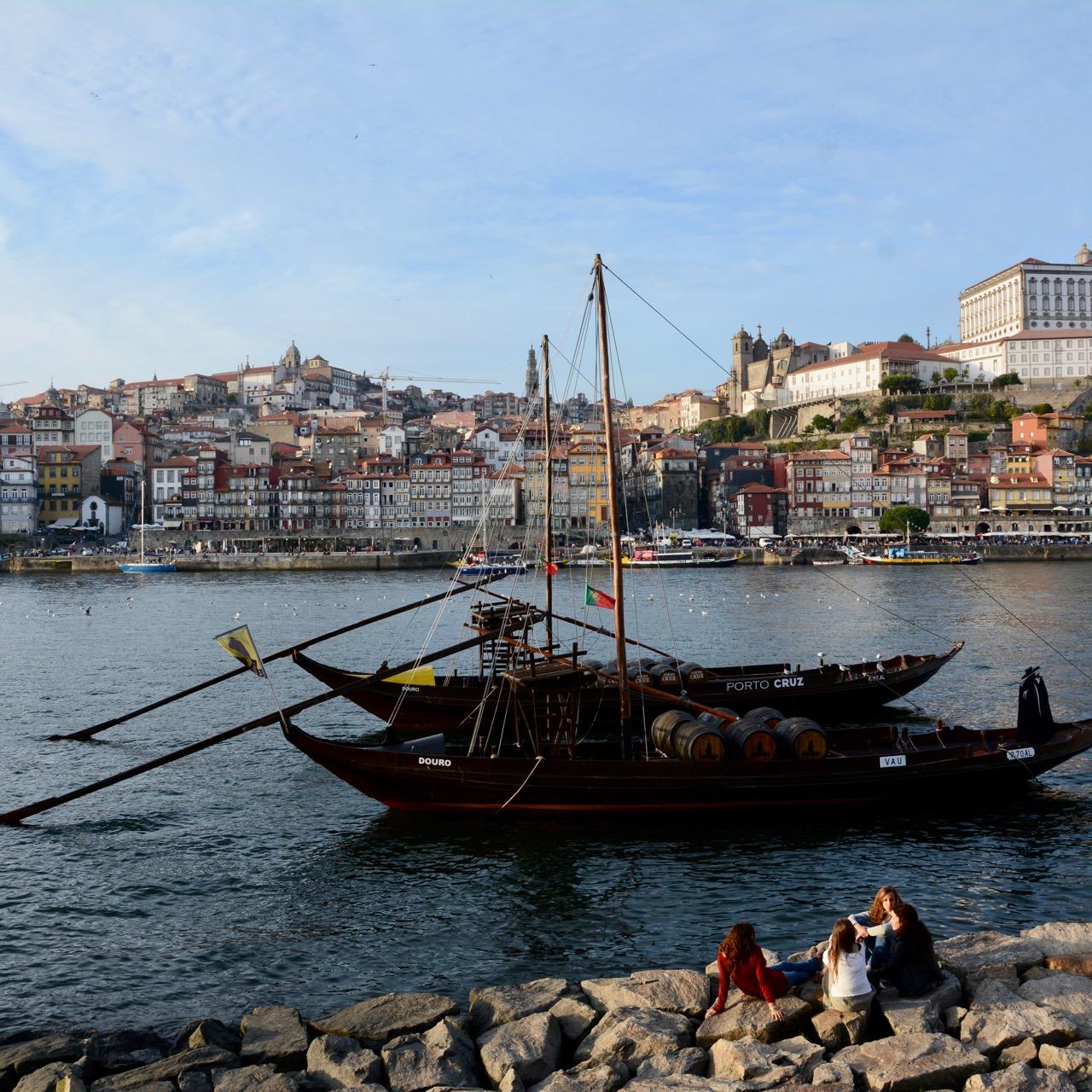 travel with kids children porto portugal boats