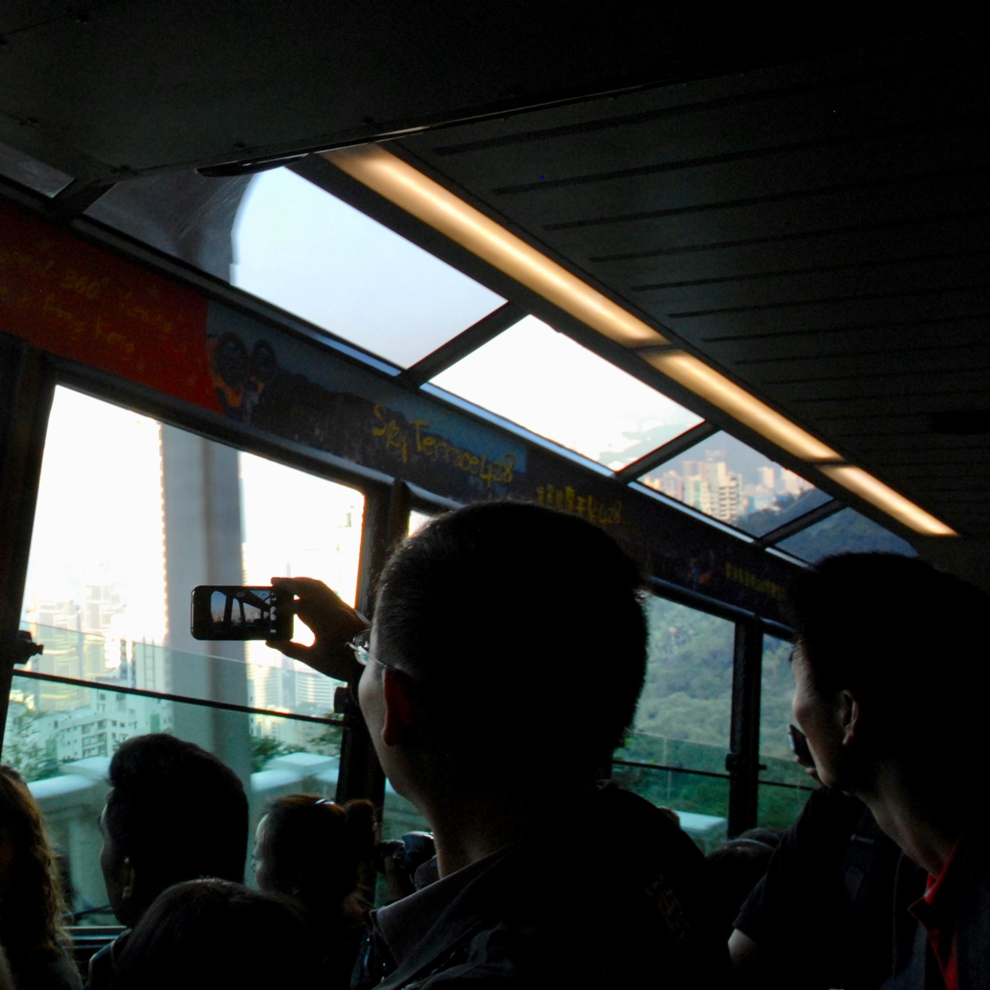 travel with kids children hong kong the peak tram