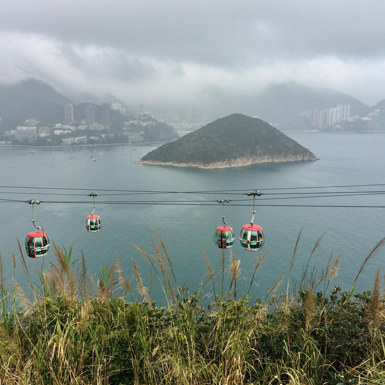 hong kong ocean park with kids children china gondola view