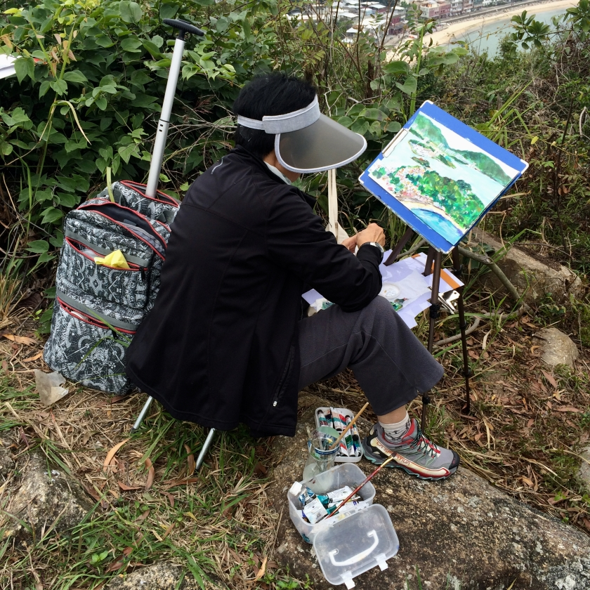 travel with kids children peng chau hong kong hiking trail finger hill painters
