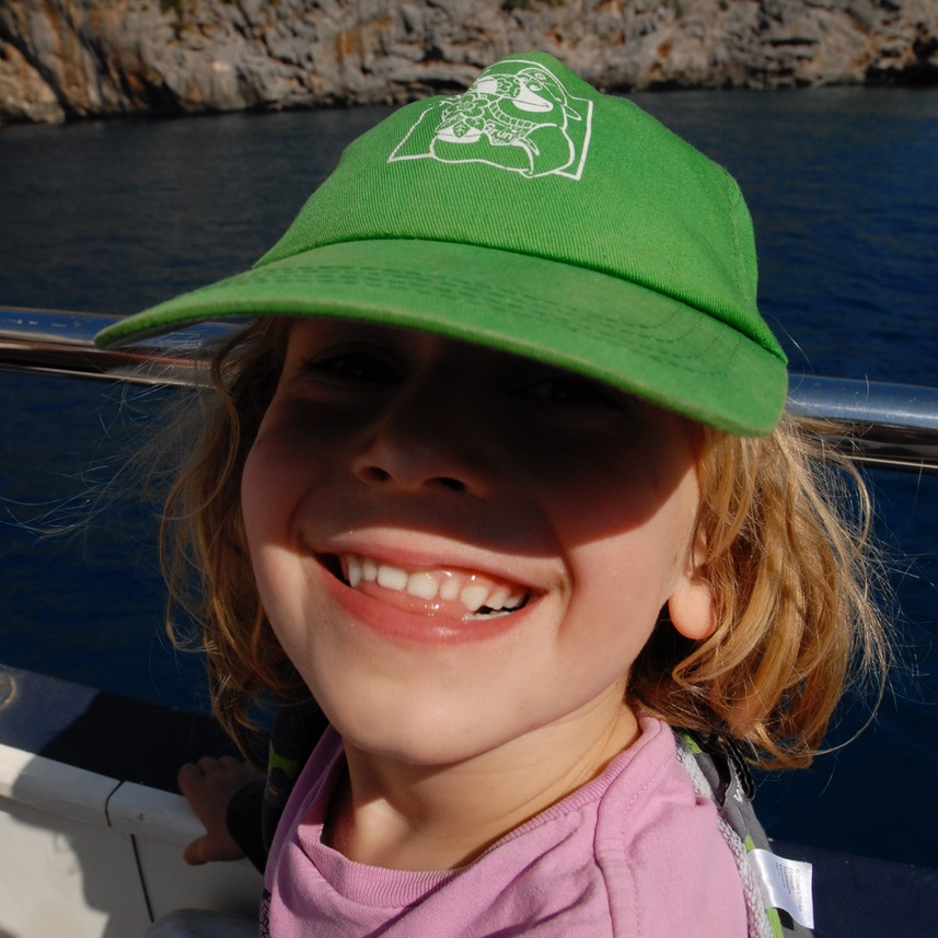 travel with kids children soller mallorca spain hiking torrent de pareis happy child