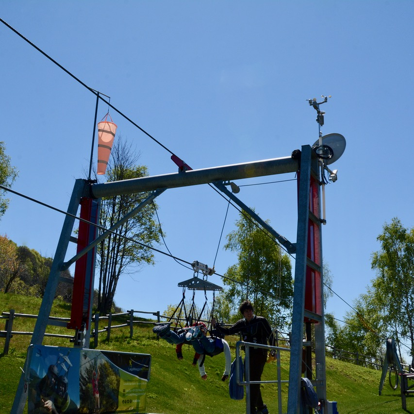 travel with kids children premono lago maggiore zip line pair
