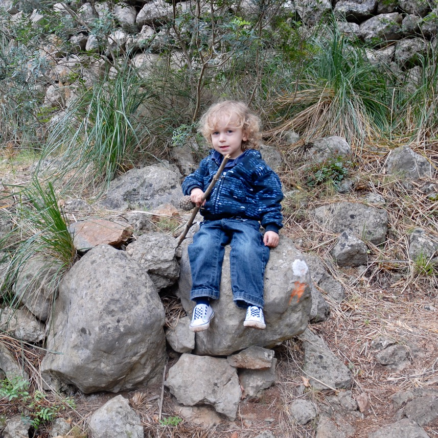 travel with kids children Soller Mallorca Spain hiking with little ones