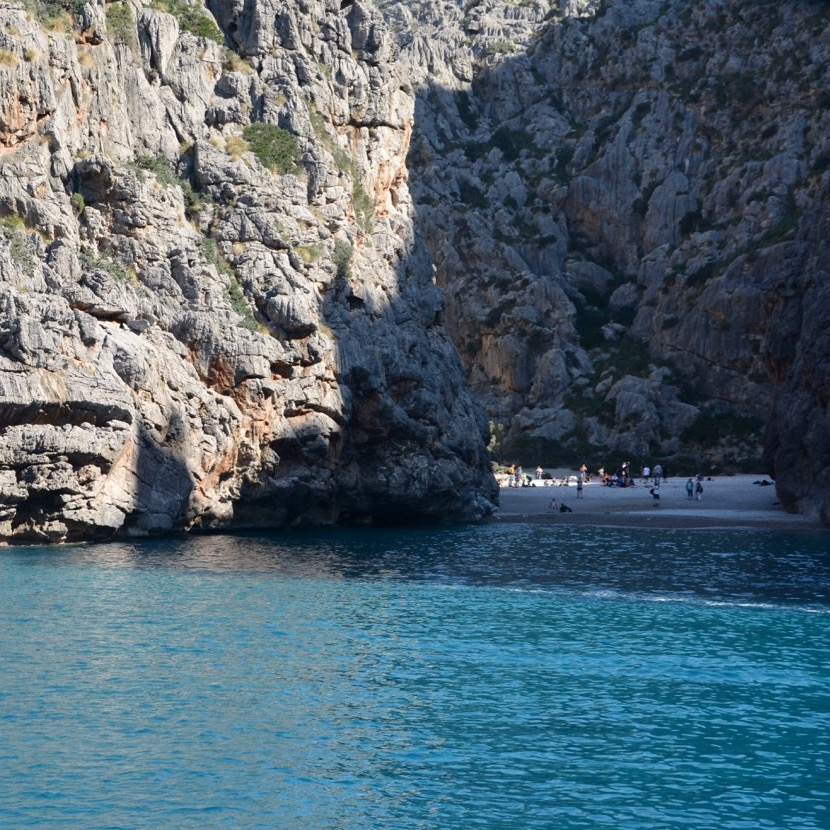 travel with kids children soller mallorca spain hiking torrent de pareis sa calibre beach