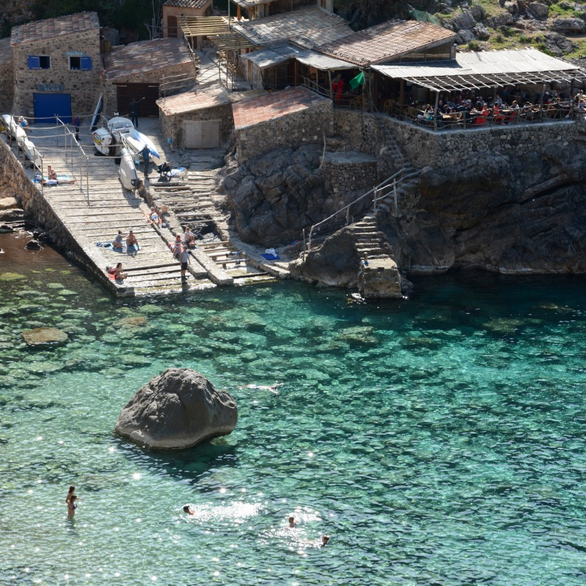 travel with kids children soller mallorca spain coastal hike ben's d'avall to cala deia cafe