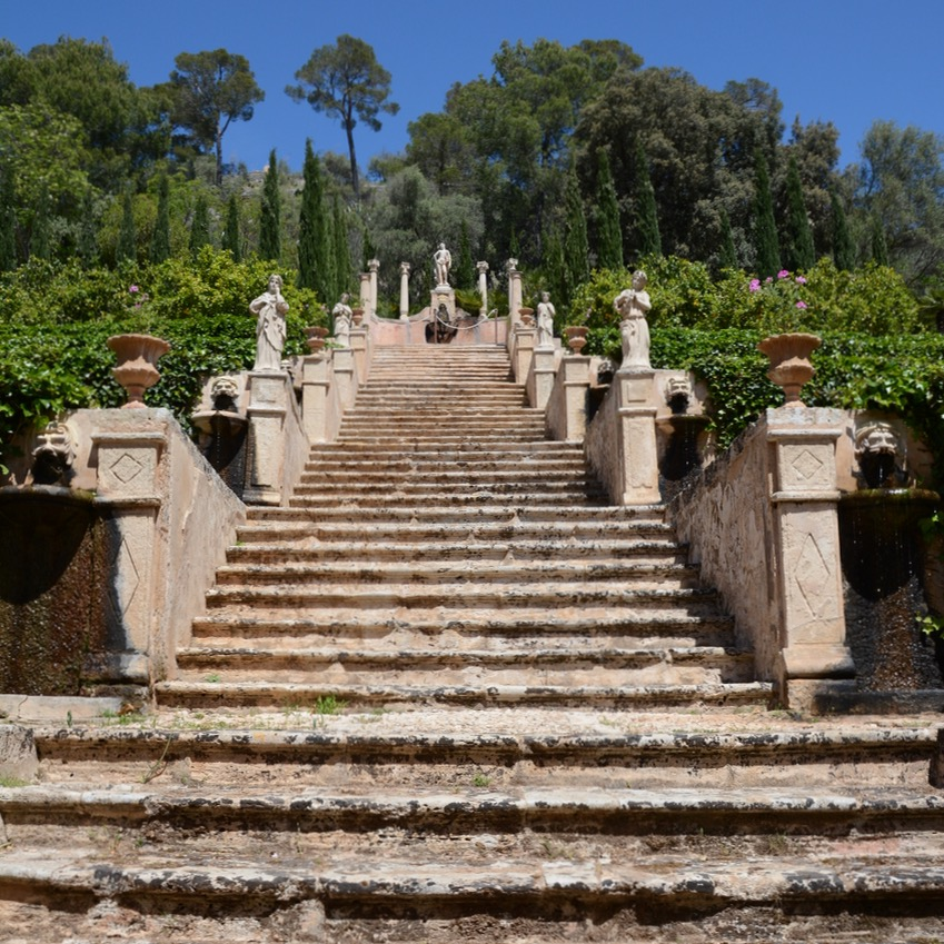 travel with kids children mallorca spain raixa estate apollo stairs
