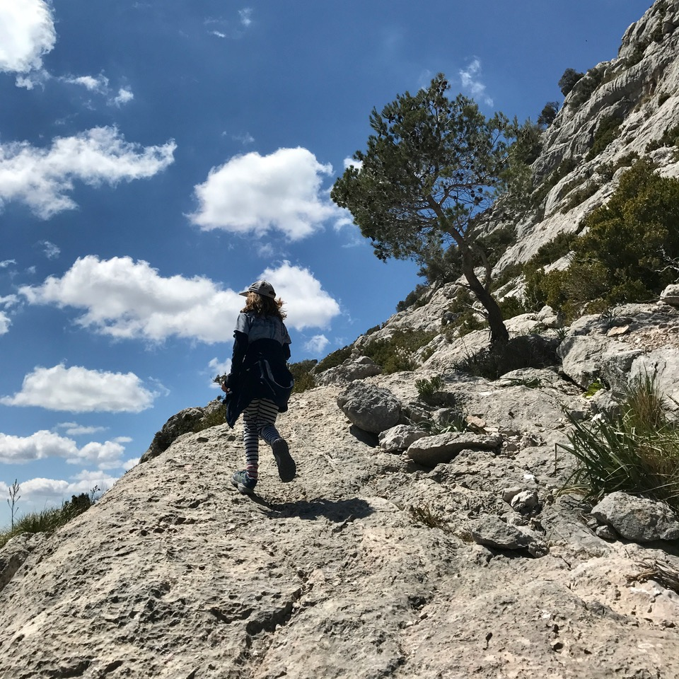 travel with kids children soller mallorca spain three mountain tops hike lofre uphill