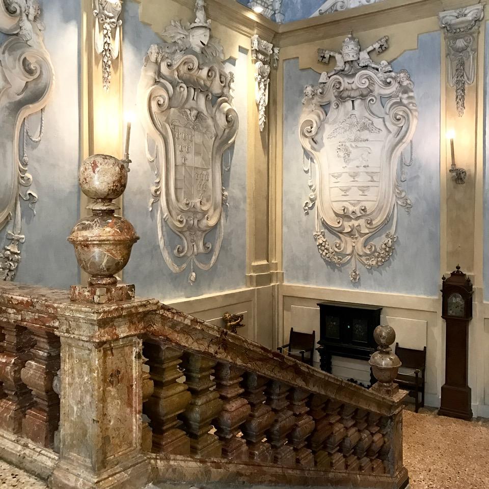 travel with kids children isola bella lago maggiore italy palazzo borromeo stairs