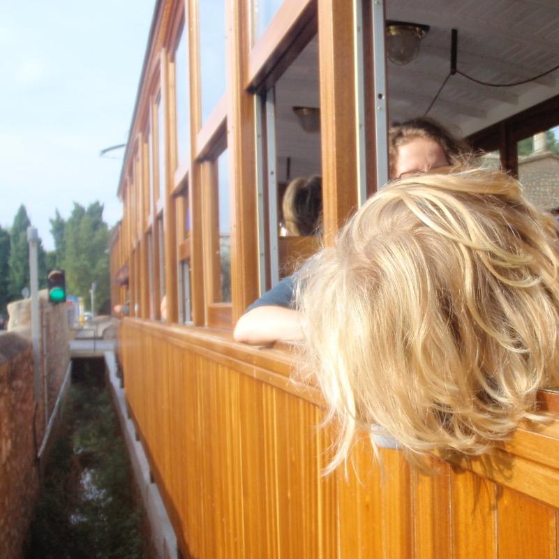 travel with kids children Soller Mallorca Spain tranvia tram ride